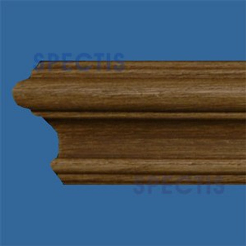 """MD1201WG Wood Grain Chair Rail 1""""P x 2 1/16""""H x 96""""L"""