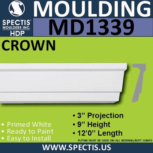 """MD1339 Spectis Molding Base Trim 3""""P x 9""""H x 144""""L"""