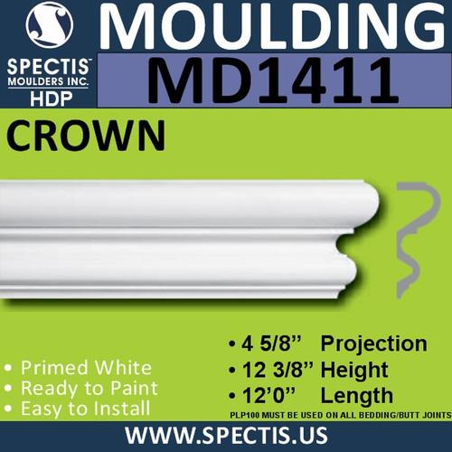 """MD1411 Spectis Molding Base Cap 4 5/8""""P x 12 3/8""""H x 144""""L"""