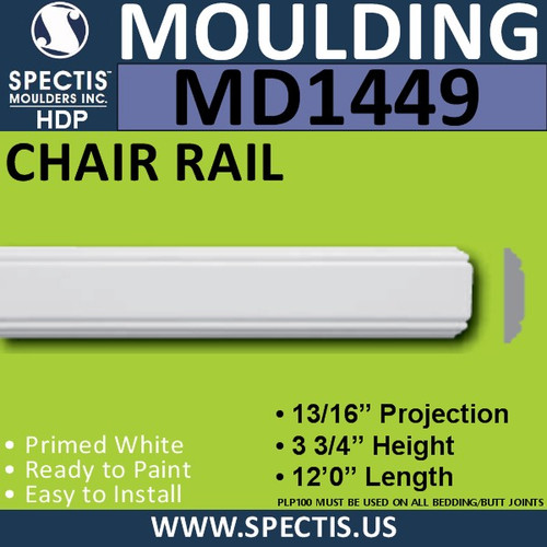 "MD1449 Spectis Plant On Trim 13/16""P x 3 3/4""H x 144""L"