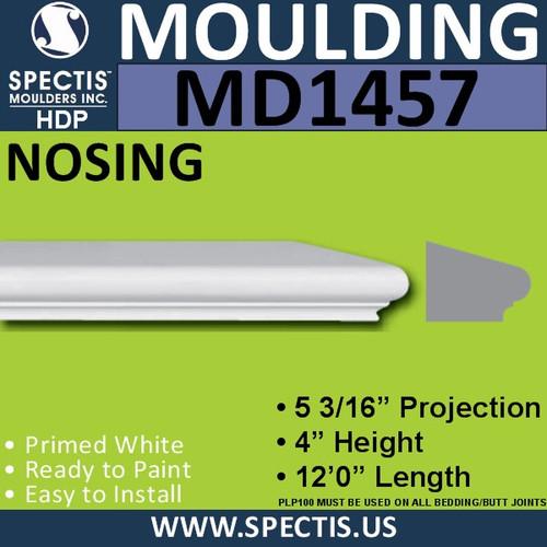 """MD1457 Spectis Molding Base Cap Trim 5 3/16""""P x 4""""H x 144""""L"""