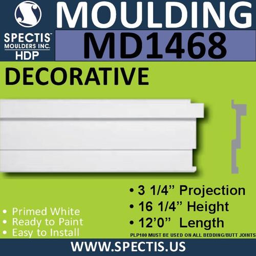 """MD1468 Spectis Molding Base Trim 3 1/4""""P x 16 1/4""""H x 144""""L"""