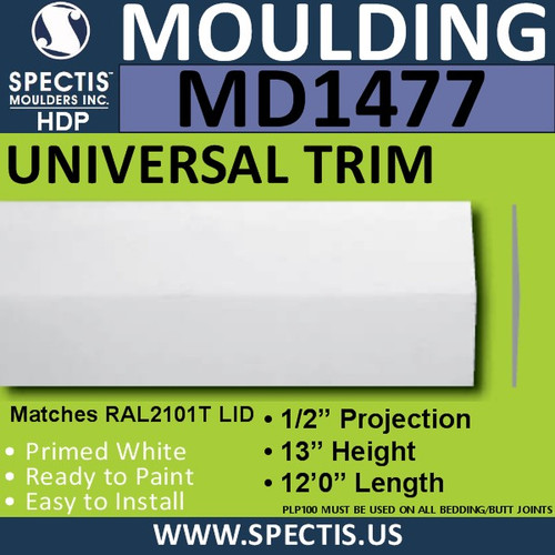 "MD1477 Spectis Plant On Trim 1/2""P x 13""H x 144""L"