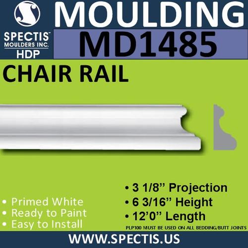 """MD1485 Spectis Crown Molding Trim 3 1/8""""P x 6 3/16""""H x 144""""L"""