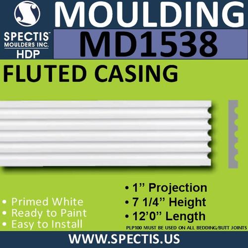"MD1538 Spectis Molding Fluted Trim 1""P x 7 1/4""H x 144""L"