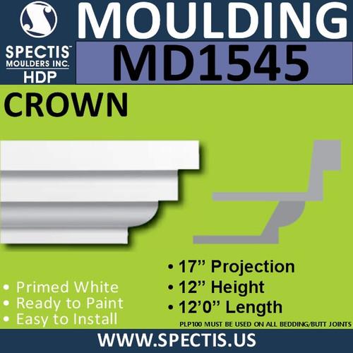 """MD1545 Spectis Crown Molding Trim 17""""P x 12""""H x 144""""L"""