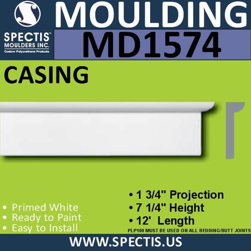 """MD1574 Spectis Molding Base Trim 1 3/4""""P x 7 1/4""""H x 144""""L"""