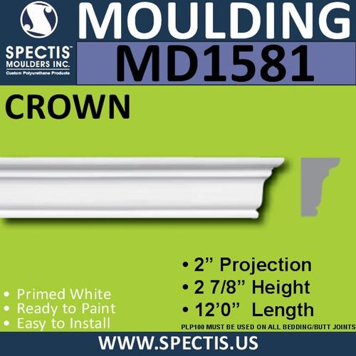 """MD1581 Spectis Molding Cap Trim 2""""P x 2 7/8""""H x 144""""L"""