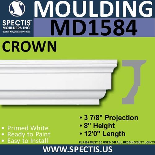 """MD1584 Spectis Molding Cap Trim 3 7/8""""P x 7""""H x 144""""L"""