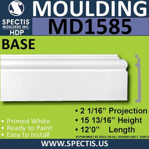 """MD1585 Spectis Molding Base Trim 2 1/16""""P x 7 13/16""""H x 144""""L"""