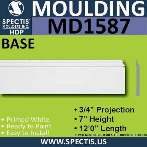 """MD1587 Spectis Molding Base Trim 3/4""""P x 7""""H x 144""""L"""