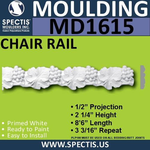 """MD1615 Spectis Molding Case Trim 1/2""""P x 2 1/4""""H x 102""""L"""