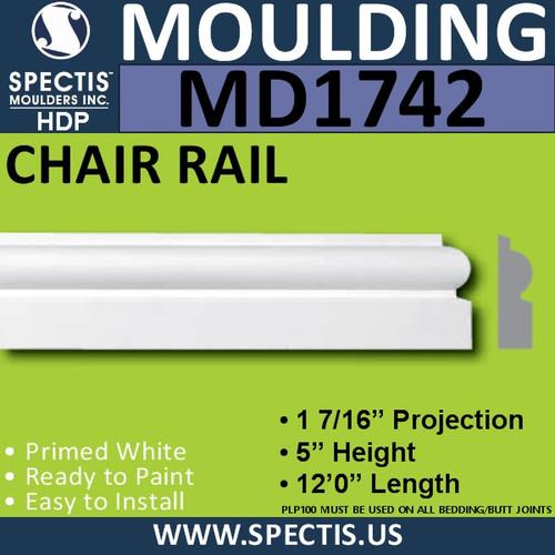 """MD1742 Spectis Molding Case Trim 1 7/16""""P x 5""""H x 144""""L"""