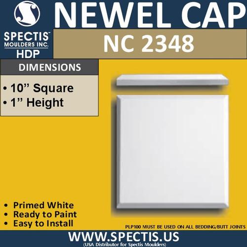 "NC2348 Urethane Newel Cap 10"" W x 1"" H"