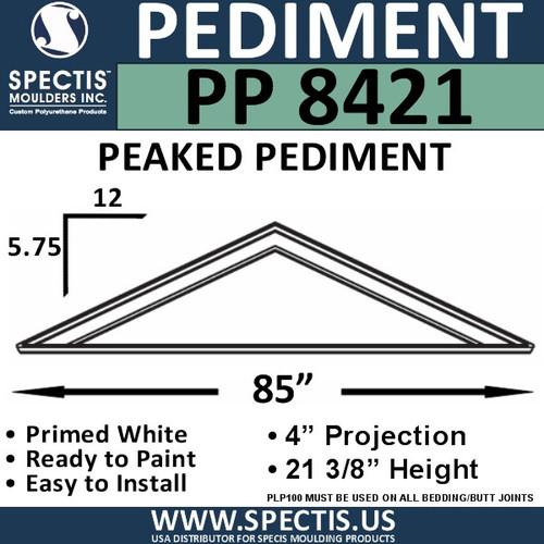 """PP8421 Peaked Pediment for Door 85"""" x 21 3/8"""""""