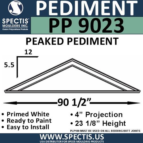 """PP9023 Peaked Pediment for Door 90 1/2"""" x 23 1/8"""""""