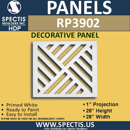 "RP3902 Decorative Square Panel 1""P X 28"""