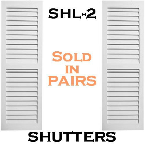 SHL-2 1459 2 Panel Closed Louver Shutters 14 x 59