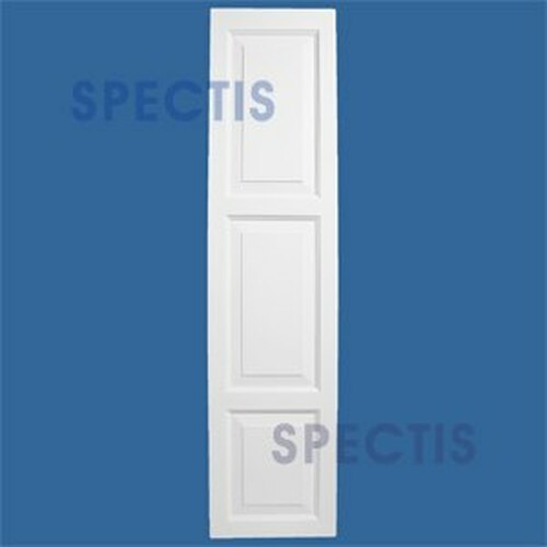 SHP-3 1651 Polyurethane Exterior Shutters - 3 Raised Panels 16 x 51
