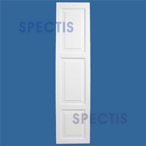 SHP-3 1655 Polyurethane Exterior Shutters - 3 Raised Panels 16 x 55