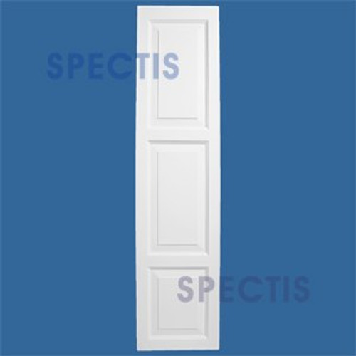 SHP-3 1855 Polyurethane Exterior Shutters - 3 Raised Panels 18 x 55
