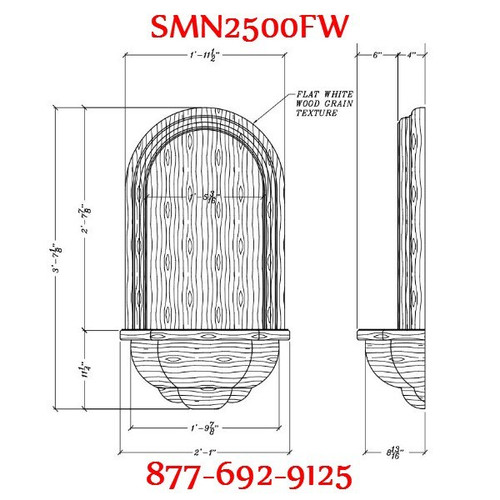 SMN2500FW Spectis Surface Mount Wall Niche