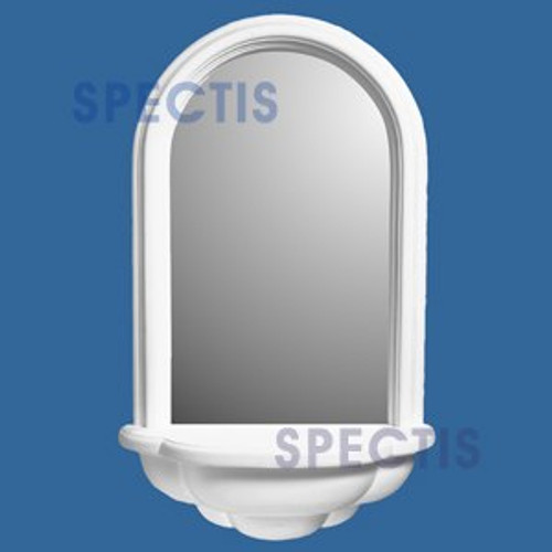 SMN2501FW Spectis Surface Mount Flat White Woodgrain  Wall Niche with Mirror