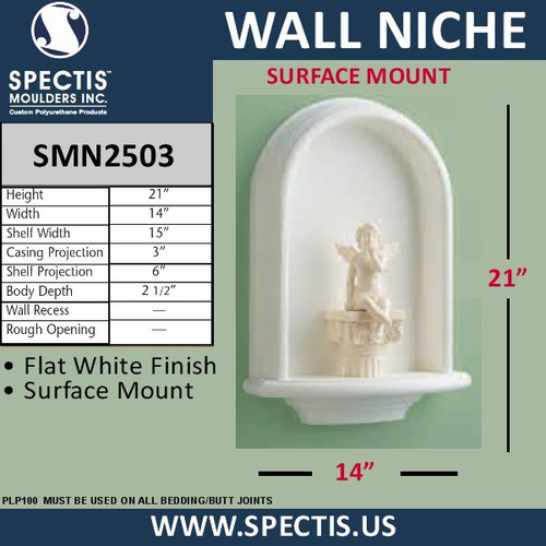 "SMN2503 Surface Mount Wall Niche 14"" x 21"""