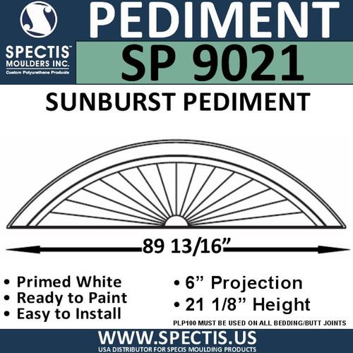 "SP9021 Sunburst Pediment  91 1/4 x 21 1/8"""