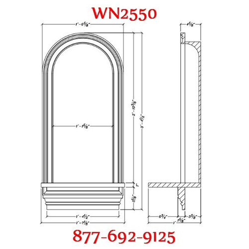 "WN2550 In-Wall Niche Flat White Finish 17 3/4"" x 40 1/2"""