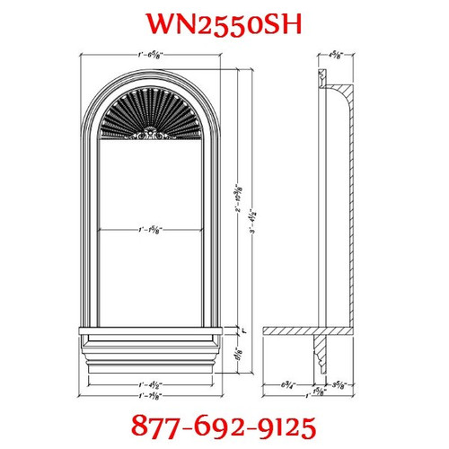 WN2550SH Spectis In-Wall Niche with Shell Top