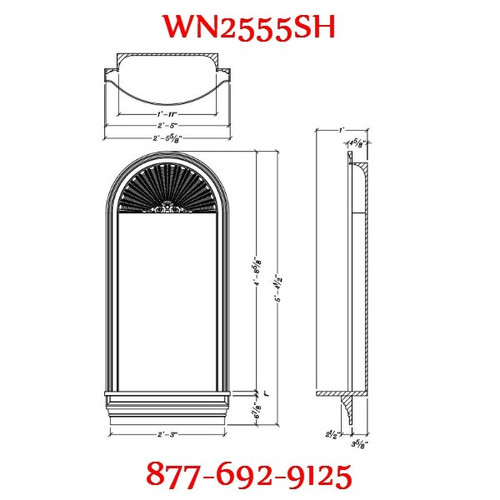 WN2555SH Spectis In-Wall Niche Flat White Finish with Shell Top