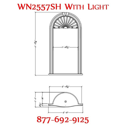 WN2557SH Spectis In-Wall Niche Flat White Finish with Light