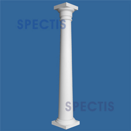 "CLM100-16-10 Smooth Tapered Column 16"" x 120"""