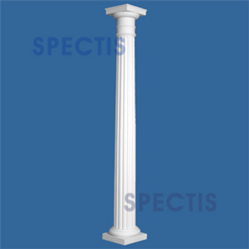 "CLM200-12-8 Fluted Tapered Column 12"" x 96"""