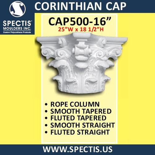 "CAP500-16 Corinthian Cap 25""W x 18 1/2""H for 16"" top column"