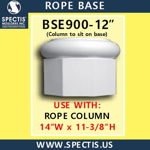 """BSE900-12 Rope Base 14""""W x 11 3/8""""H"""