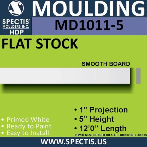 """MD1011-5 Spectis 1"""" Flat Trim 1""""P x 5""""H x 144""""L"""