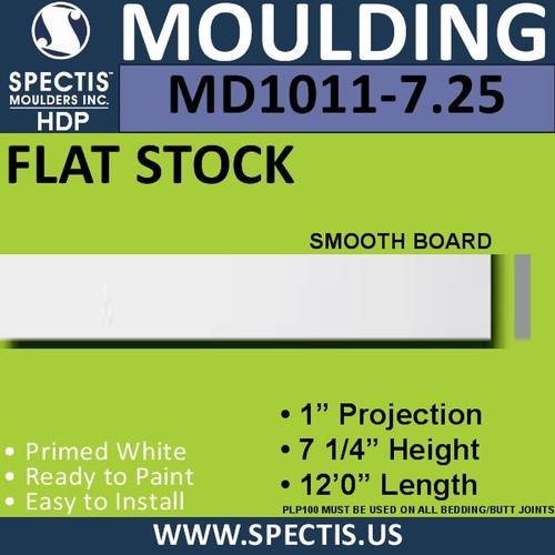 """MD1011-7.25 Spectis 1"""" Flat Trim 1""""P x 7.25""""H x 144""""L"""