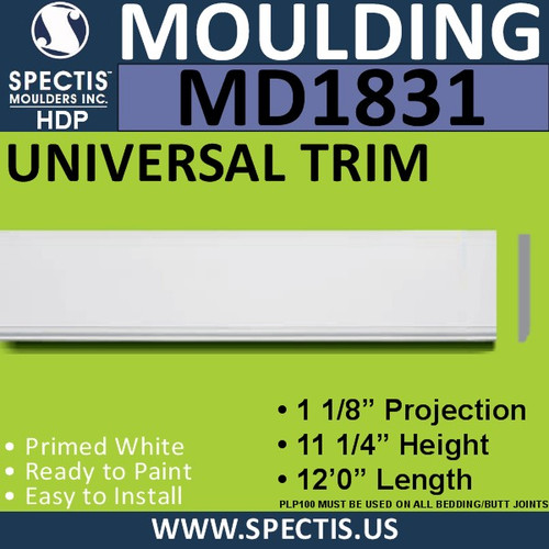MD1831 Universal Molding Trim decorative spectis urethane