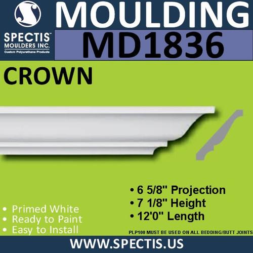MD1836 Crown Molding Trim decorative spectis urethane