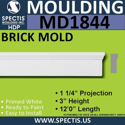 MD1844 Brick Mold Universal Molding Trim decorative spectis urethane