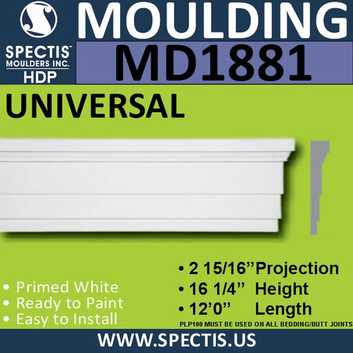 MD1881 Universal Molding Trim decorative spectis urethane