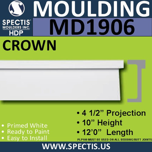 MD1906 Crown Molding Trim decorative spectis urethane