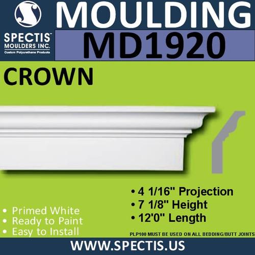 MD1920 Crown Molding Trim decorative spectis urethane