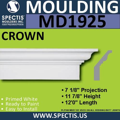 MD1925 Crown Molding Trim decorative spectis urethane