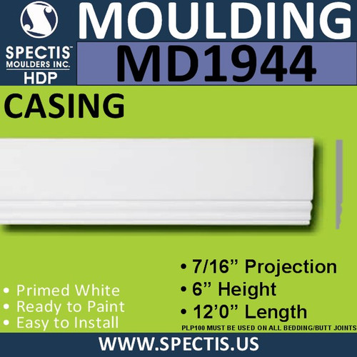 MD1944 Door Case Molding Trim decorative spectis urethane