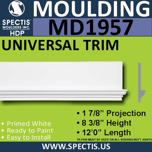 MD1957 Universal Molding Trim decorative spectis urethane