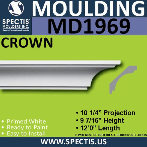 MD1969 Crown Molding Trim decorative spectis urethane