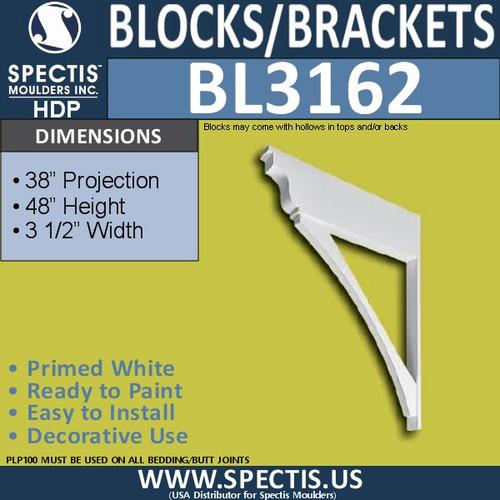 "BL3162 Eave Bracket 3.5""W x 48""H x 36""P"
